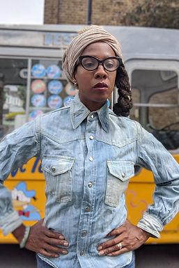 Vintage 60s Denim FADE OUT shirt