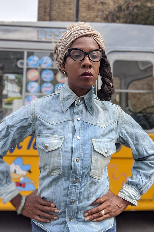 Vintage 60s Denim FADE OUT shirt