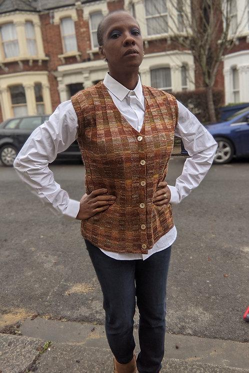 Vintage knited vest SM rust tones