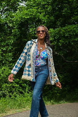Vintage 70s Patchwork quilted jacket
