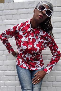 Vintage 70s St Michael Floral print tunic shirt SM