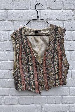 vintage 90s tapestry waistcoat M