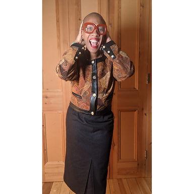 "80s vintage Burberry slate grey wool skirt 30"" w"