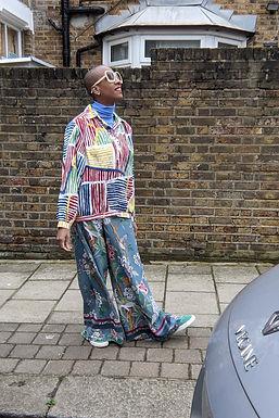 GP & J BAKER X H & M Floral print wide leg trousers