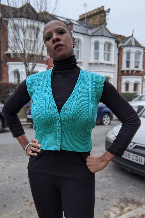 Cool 80s Wool Vest by Jaeger XS