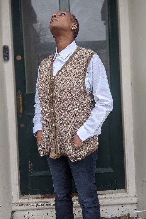Cool Vintage Zig Zag knitted vest