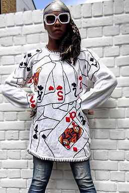 vintage 90s Embroidery Card Jumper SML