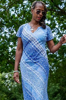 Vintage 90s blue maxi dress