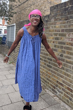 Vintage blue Cheesecloth smock dress uk 8 12