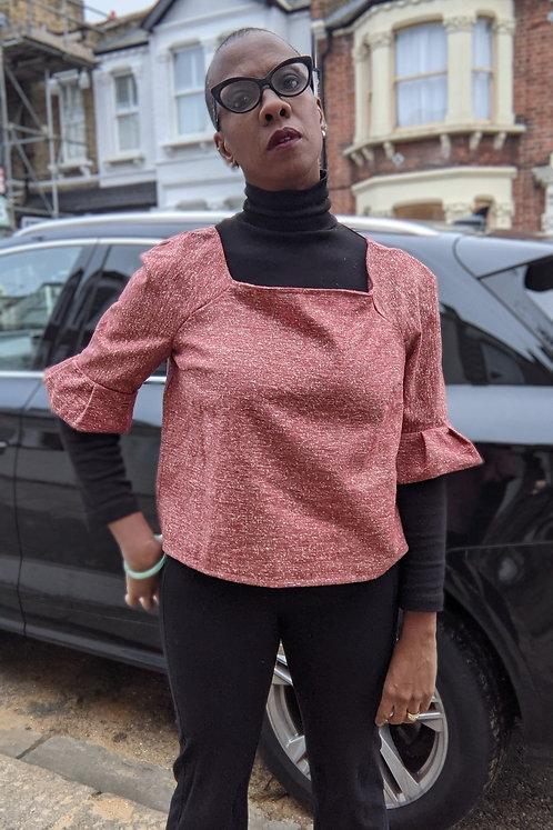Vintage square neck blouse