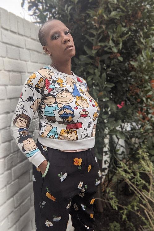 Cool Peanuts Charlie Brown Sweatshirt XS