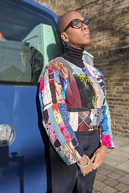 Beautiful Vintage Patchwork jacket SML