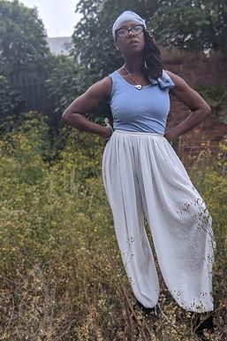 "Vintage 70s cheesecloth harem pants 26"" waist"