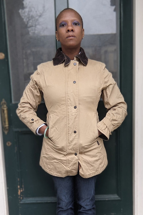 Vintage Barbour Cream jacket xs
