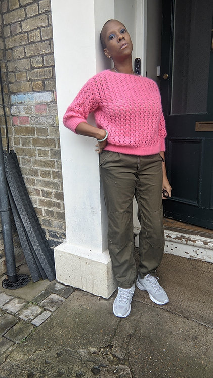 Lovely Pink mohair jumper SM