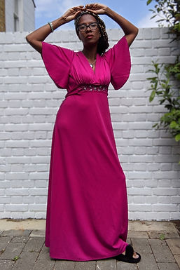 Stunning vintage 70s maxi dress