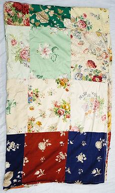 vintage patchwork sheet