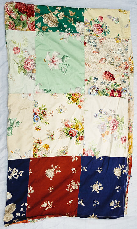 vintage patchwork sheet front