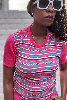 vintage 70s striped pushover knitwear