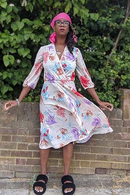 lovely 70s floral print dress uk 10 uk 12