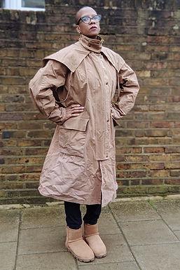 Vintage STOCKMAN Drover Caped coat L XL