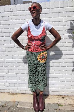 Stunning Vintage Crochet Dress