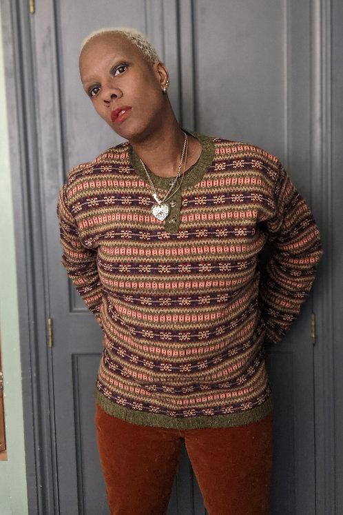 Cool 90s Fair Lsle Knit wool  jumper ML
