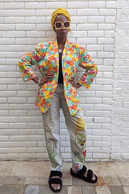 Stunning 80s Colour Splash Broderie anglaise French Conection Jacket