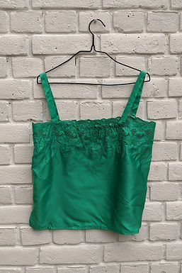 Sweet Vintage emerald geen broderie anglaise Camisole S