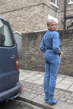 Vintage 70s blue denim jumpsuit XS