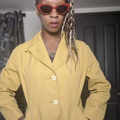 Chic Vintage 60s mustard vintage coat