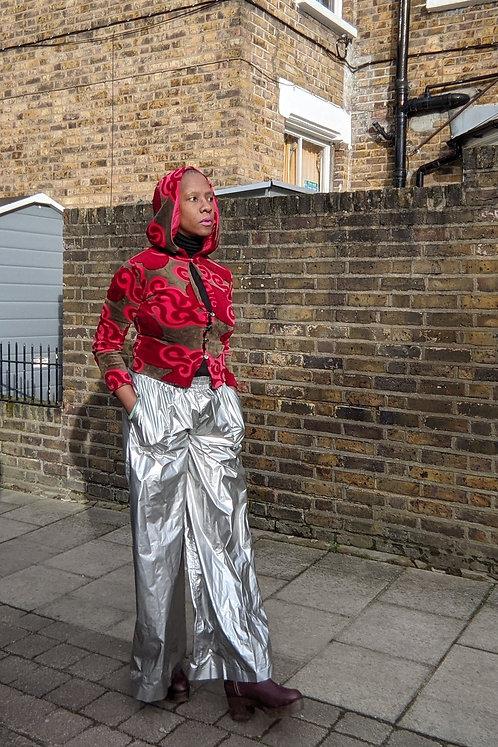 Stunning velvet psychedelic 60s Marlborough of England Hoodie top XS