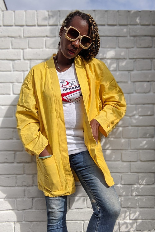 Vintage 80s Yellow jacket ML