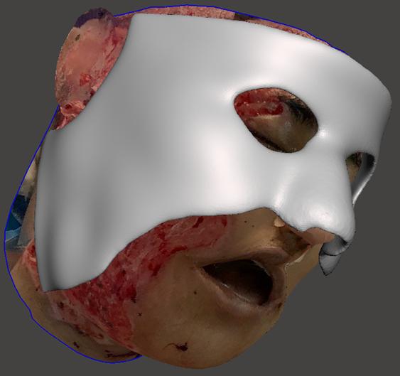 Diseño virtual máscara 3D