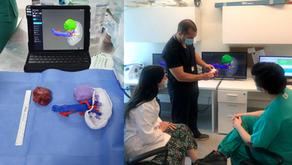 Urología 3D: Nefrectomía parcial mini-invasiva con biomodelos