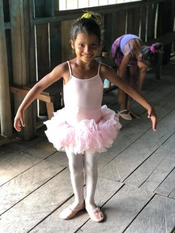 The students in the Peruvian Amazon studied ballet.