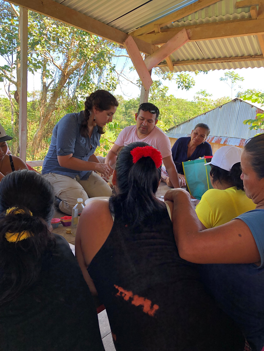 Julia Ausmus teaching first aid in Ayacucho Village