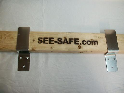 "SEE-SAFE Security Barn Door Barricade Brackets Fits 2x4 Boards 2"" Wide"