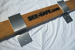 "SEE-SAFE Drop In Security Door Brackets Fits 2x4 Boards 2.5"" Wide Barn Door"
