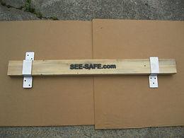 "See-safe Security Door Lock Barricade 2x4 3.5"" Wide Brackets Open & Closed .190"