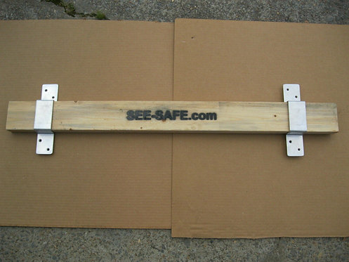 "See-Safe Security Door Lock Barricade 2x4 Board Kit Closed Bar 2"" Wide 1"