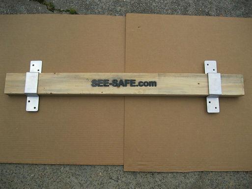 "See-Safe Security Door Lock Barricade 2x4 Board Kit Closed Bar 2"" Wide 1"