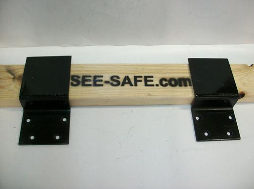"SEE-SAFE Security Lock Door 3/16 STEEL Brackets 4"" Fits Board 2x6"