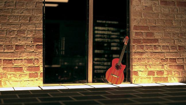 Gitarre Fliesenleuchte