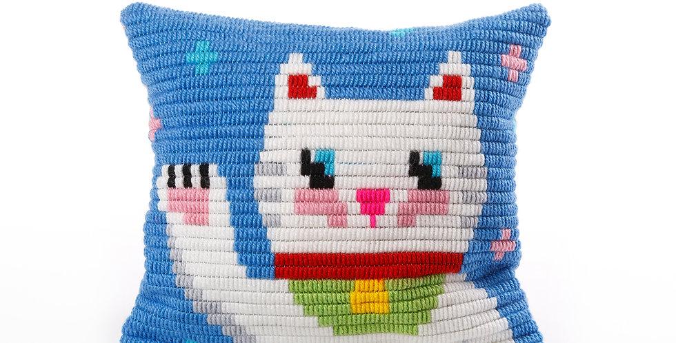 MANEKI NEKO | pillow needlepoint kit