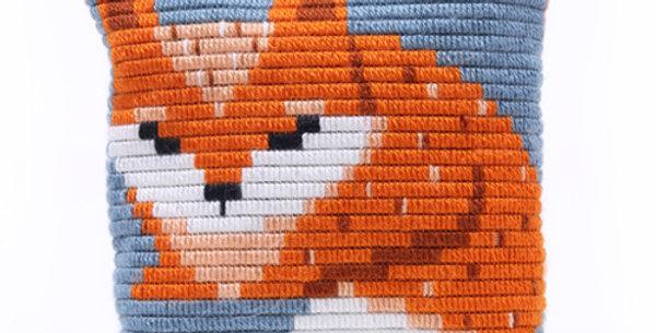 BABY FOX   pillow needlepoint kit