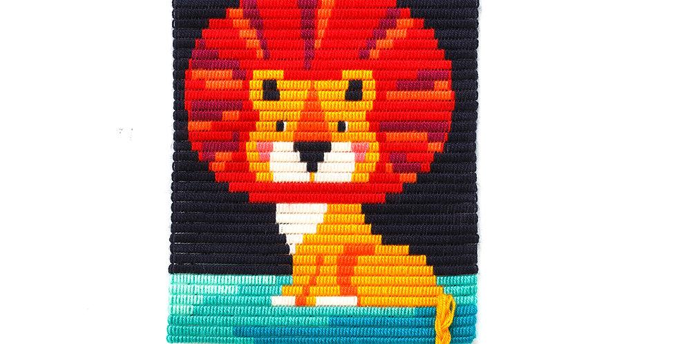 LION   3D wall art needlepoint kit