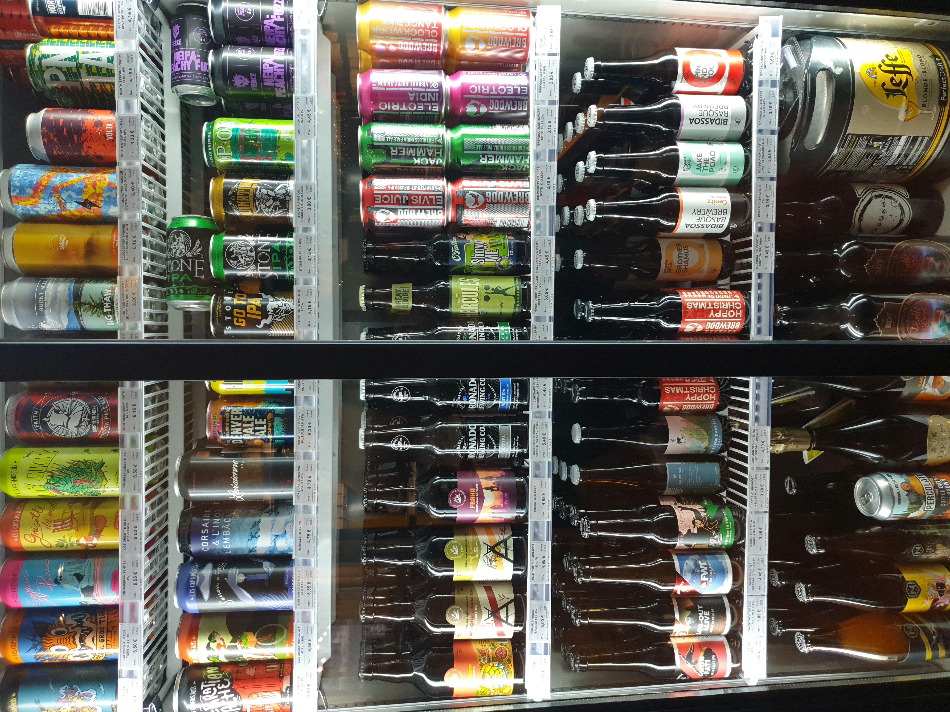 Nos bières sensibles au frigo