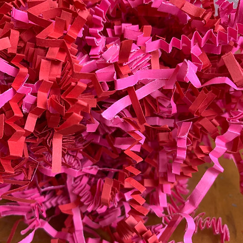 Hot Pink/Red crinkle cut shreds