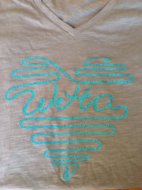 WeHa blue glitter t-shirt